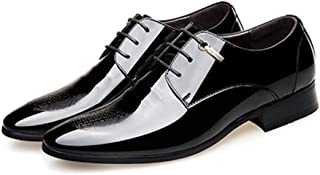 Men's Business Black Oxfords Shoes Formal Shoes (Color : Black, Size : 43)