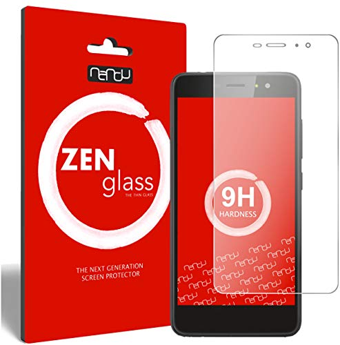 ZenGlass (2 Stück Flexible Glas-Folie kompatibel mit Gigaset GS160 Panzerfolie I Bildschirm-Schutzfolie 9H