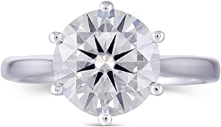 hearts and arrows moissanite ring