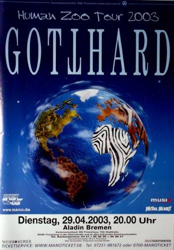 GOTTHARD - 2003 - Konzertplakat - Human Zoo - Tourposter - Concert