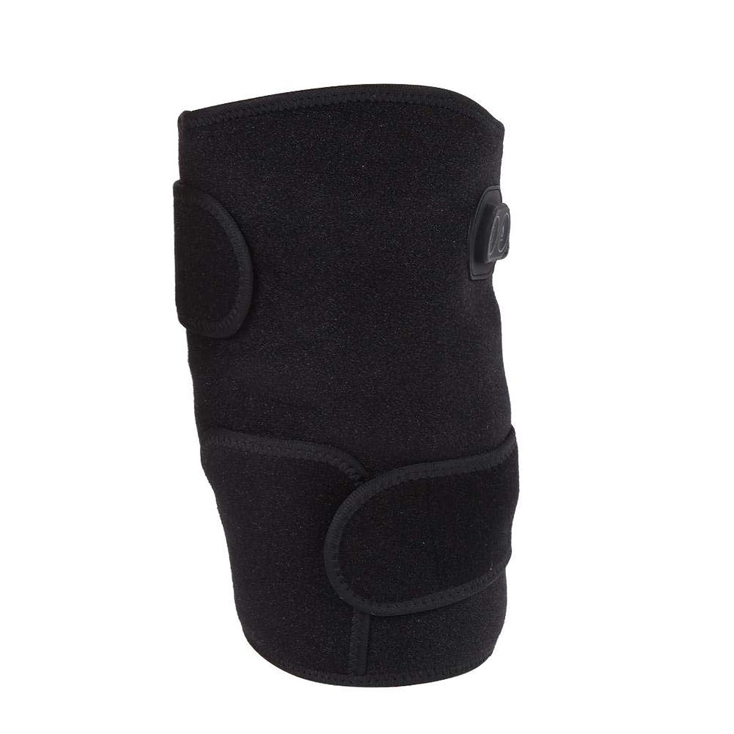 ベーシックファーザーファージュ報奨金加熱膝パッド、電熱膝ブレース加熱保温のための柔軟な機動性を備えた鎮痛膝サポートコンプレッサー