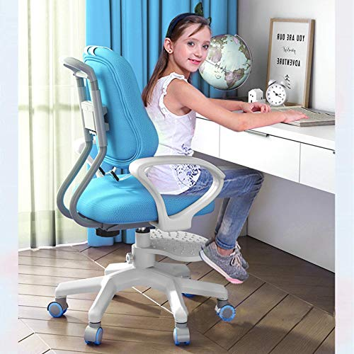 Kids Desk Chairs,Kids Computer Chair,Ergonomic Design Sitting Posture Correction Desk Chair for Boys and Girls,Multi-Function Adjustable Height Learning Chair for Home,School (Blue)