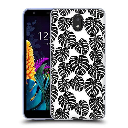 Officiële Andrea Lauren Design Monstera Plant Patroon Soft Gel Case Compatibel voor LG K30 (2019)
