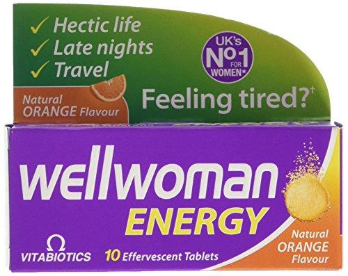 Vitabiotics Wellwoman Energy Natural Orange Flavour (10 Tablets)