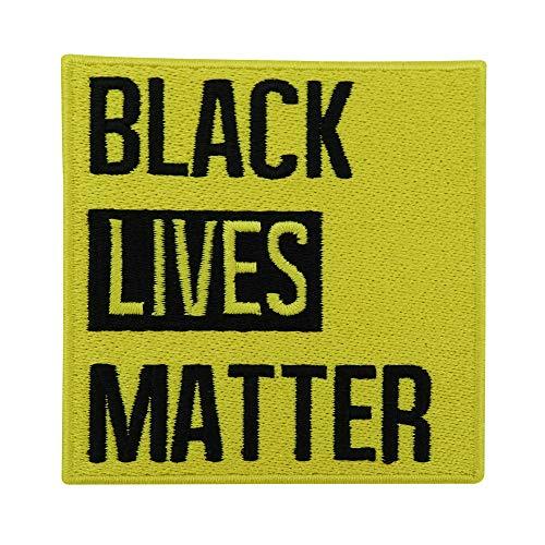 Finally Home Gelber Black Lives Matter Patch zum Aufbügeln | BLM Patches, Bügelflicken, Flicken, Aufnäher