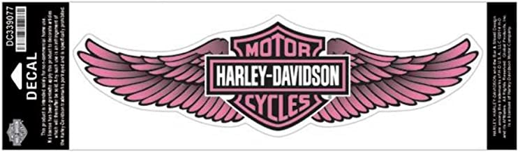 HARLEY-DAVIDSON Straight Wing Decal Pink 3XL Size Sticker DC339077