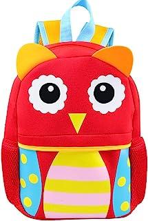 Kids Backpack | Fenrici | Boys | Girls | Toddler | Preschooler | Cute Animal Design | Owl
