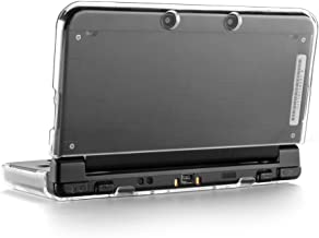 TNP Funda de Cristal Transparente Protector de Nuevo Nintendo 3DS XL LL Versión 2015 Nuevo Diseño Sin Bisagras Material Plástico Liviano y Duradero Arañazos-Resistente Instalación Fácil