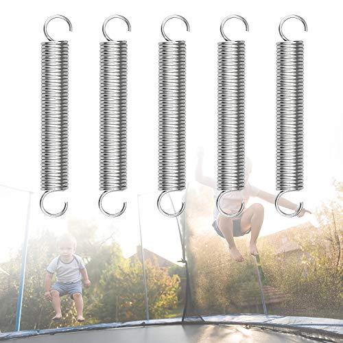 KLYNGTSK 2 Stück Zugfeder Edelstahl Verlängerungsfeder Spannungsfeder Zugfeder mit Haken Spannfeder 70mm Druckfeder Sprungfedern Trampolin Stahlfeder Spiralfeder für Industrie, Fertigung