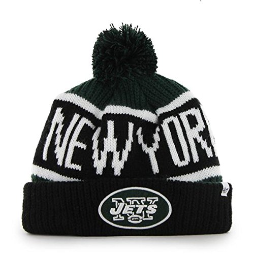 various colors d5b00 35b44  47 Brand Calgary Cuff Beanie Hat with POM POM - NFL Cuffed Winter Knit  Toque.