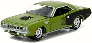 Greenlight 1971 Plymouth HEMI Cuda, Sassy Grass Green 13180/48 - 1/64 Scale Diecast Model Toy Car