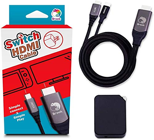 Brook スイッチ 用 Switch USB Type C HDMIケーブルとACアダプター Type-Cに対応 TV出力 HDMI映像 音声出力に対応 高速充電 便利超軽量 【公式正規品/メーカー1年保証付き】