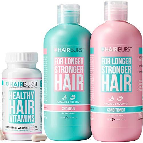 Hairburst Shampoo, Conditioner & Original Vitamin Bundle - All Natural Hair Growth Vitamins - Hair Growth and Anti Hair Loss Shampoo and Conditioner - For Longer, Stronger Hair