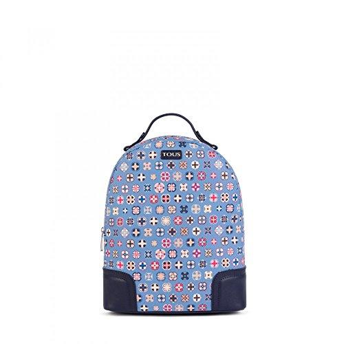 Mochila Mossaic Tie de Lona en color azul