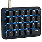 フルプログラム可能 メカニカルキーボード カスタマイズ自在 左手ゲーミングキーボード 23キー マクロキー RGBバックライト 片手 小型キーボード ショットカットキー プログラマー向き DIYキーボード (青軸 ブルー(ブラック))