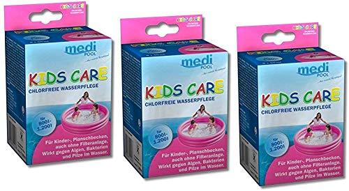 POWERHAUS24 mediPOOL Kids Care 3 x 250ml, für Plantschbecken, chlorfrei