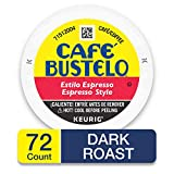 Café Bustelo Espresso Style Dark Roast Espresso Style Coffee, 72 K Cups for Keurig Makers