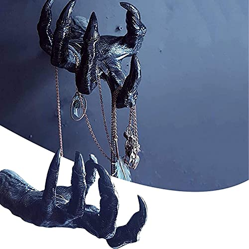 ShenMiDeTieChui Colgante de la Pared decoración Las Marcas Mano Bruja, bracela del Soporte Bruja Estante exhibición joyería, cartilla casa Escudo Bienvenida, para el hogar (Color : Black)