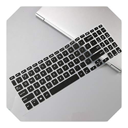 Funda protectora de silicona para teclado ASUS Vivobook 15 A512FB A512F A512FL A512 FL FB 15.6 Pulgadas-Negro-
