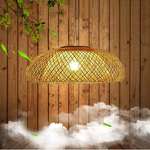 Lámpara colgante de bambú Lámpara colgante de ratán hecha a mano Base E27 Lámpara colgante de bambú Lámpara colgante de ratán vintage Luces colgantes Bambú natural