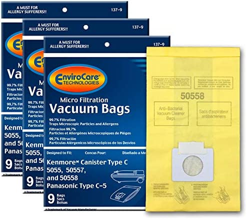 EnviroCare Replacement Vacuum Bags for Kenmore Canister Q 50555,