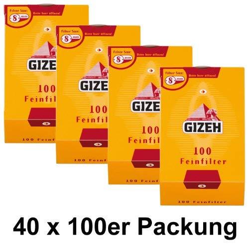 40 Packungen Feinfilter 100er 8mm (40x100) Fein Filter Eindrehfilter