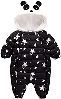 Ohrwurm Infant Toddler's Down Snowsuit Cute Panda Fleece Hood Puffy Onesie for 0-2T Baby