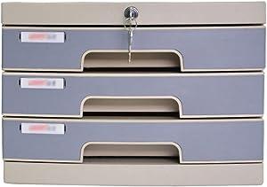 Home Office Furniture Desk Storage Unit Organizer Landslide Track Drawer Small White Label Various File Cabinet Ring Plastic - 30 x 38 x 21cm 11-11