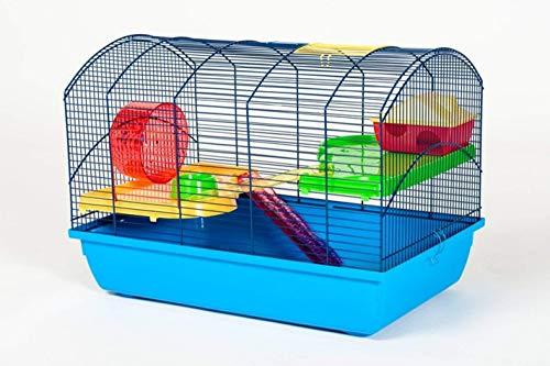 Ollesch D&S Vertriebs Cage à souris avec accessoires Bleu 59 x 36 x 43 cm