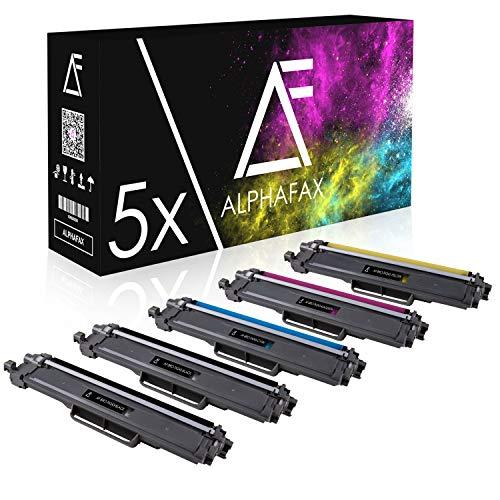 Alphafax 5 Toner kompatibel für Brother TN-243 | MIT CHIP | HL-L3210CW HL-L3230CDW HL-L3270CDW DCP-L3510CDW DCP-L3550CDW MFC-L3710CW MFC-L3730CDN MFC-L3750CDW MFC-L3770CDW