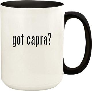 got capra? - 15oz Ceramic Colored Handle and Inside Coffee Mug Cup, Black