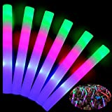 TURNMEON 32 Pcs Giant 16 Inch Foam Glow Sticks Party Supplies Favors, 3 Modes Color Changing Led Light Sticks Glow Batons Glow In The Dark Accessories for Birthday Wedding July 4th Party