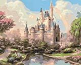 Ritoti Paint by Numbers Kits for Adults Beginners DIY Canvas Oil Painting with Acrylic Pigment and Brushes Unframed for Perfect Home Decor (16x20 Inch,Fairytale Castle)