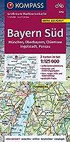 Bayern Sued, Oberbayern, Chiemsee, Ingolstadt, Passau, Muenchen 3712, 1:125 000: Grossraum-Radtourenkarte 1:125000, GPX-Daten zum Download