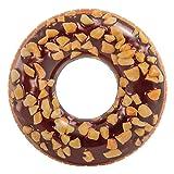 Flotador Donut grande de chocolate para piscina