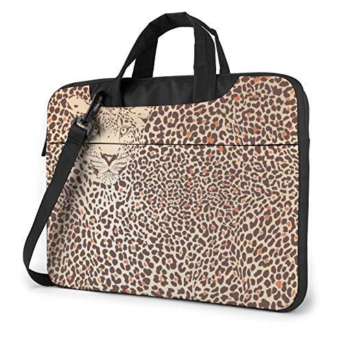 15.6 inch Laptop Shoulder Briefcase Messenger Funny Leopard Skins Tablet Bussiness Carrying Handbag Case Sleeve