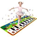 sanlinkee Alfombra de Piano, 135 * 60cm Grande Alfombra Musical de Teclado Alfombra de Baile para Bebé con Múltiples Modos Musical Mejores Juguetes Musicales Educativos para Niños Niñas