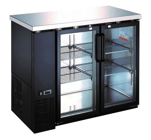 Best Deals! Wide Back Bar Swinging Glass Door Cooler