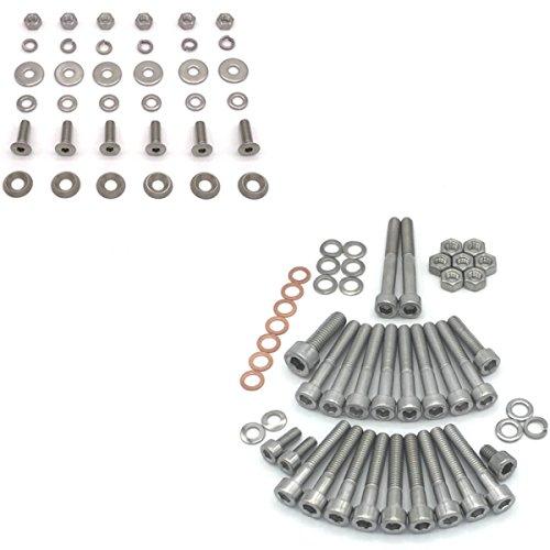 SIMSON SCHWALBE KR51/2 roue Vis en acier inoxydable pour moteur + marchepieds