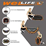 Zoom IMG-2 wellife trampolino elastico fitness pieghevole