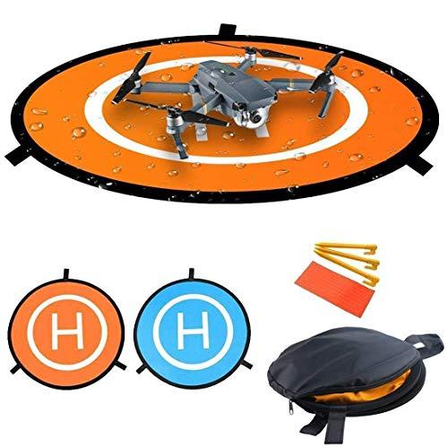 Nuofan Drone Landing Pad 55cm Impermeable Helicoptero Plegable Portátil Landig Mat para dji Mavic Pro Phantom 2/3/4/Pro, Helicóptero RC, Mavic Pro, Chispa, Inspire Drone