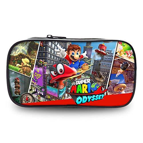 Fuovt Super Mario Zipper Pencil Case for Toy and Pen Storage Bag (L)