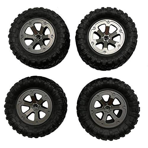 Dapei 4Pcs Upgrade Reifen Räder kompatible mit WPL B14 C24 1/16 RC Auto Buggy Military Truck Ferngesteuertes Auto Fahren Ersatzteil Reifen