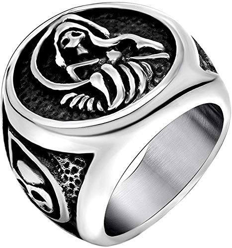 NA Sons of Anarchy Grim Reaper Death Skull Stainless Steel Ring