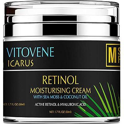 ADVANCED RETINOL and Hyaluronic Acid Silk Moisturiser | Caribbean SEA MOSS & COCONUT OIL | Anti Ageing - REVITALISING Lift DAY/NIGHT | Face/Neck/Eye Area | LUXURIOUS Moisturising Vegan Cream from Metasuperfoods