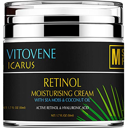 ADVANCED RETINOL and Hyaluronic Acid Silk Moisturiser | Caribbean SEA MOSS & COCONUT OIL | Anti Ageing - REVITALISING Lift DAY/NIGHT | Face/Neck/Eye Area | LUXURIOUS Moisturising Vegan Cream