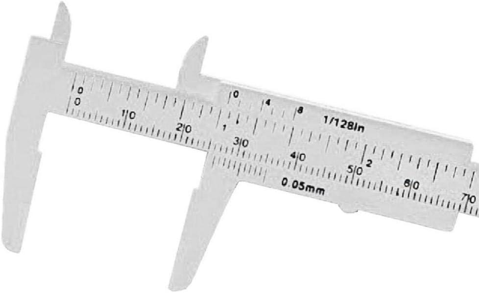 SCKUBMF Measurement 0-80mm Double Scale Plastic Vernier Caliper Orange Measurement Tool