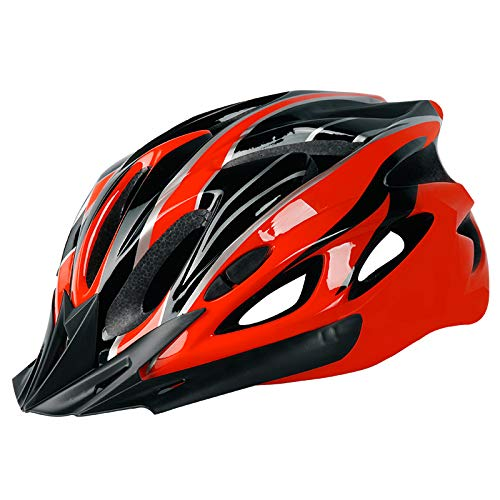 RONSHIN Casco de ciclismo EPS+PC Cubierta Integrada-Molde Transpirable Casco de Montar MTB...