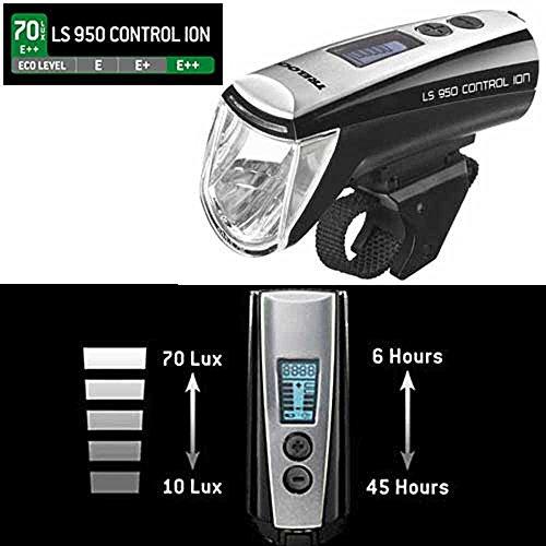 Trelock LS950 Ion Lampe 70 Lux USB 6,45h Scheinwerfer schwarz Fahrrad Frontlicht