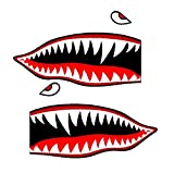 Set of 2 Remote Control (RC17) 5' Flying Tigars Shark Teeth RC Airplane Sticker Decal